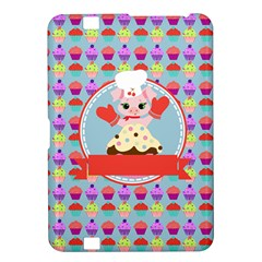 Cupcake With Cute Pig Chef Kindle Fire Hd 8 9  Hardshell Case