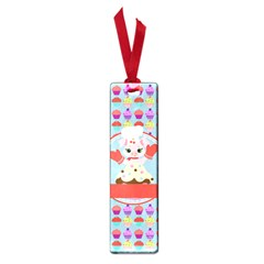 Cupcake With Cute Pig Chef Small Bookmark