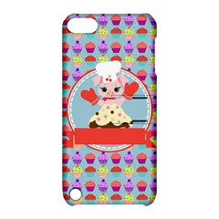 Cupcake With Cute Pig Chef Apple Ipod Touch 5 Hardshell Case With Stand