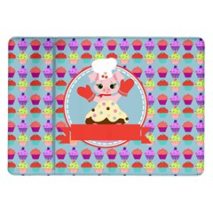 Cupcake With Cute Pig Chef Samsung Galaxy Tab 10 1  P7500 Flip Case