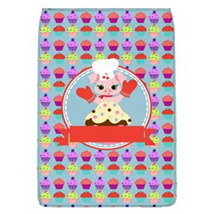 Cupcake With Cute Pig Chef Removable Flap Cover (large)