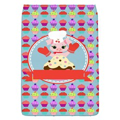 Cupcake With Cute Pig Chef Removable Flap Cover (small)