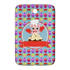 Cupcake With Cute Pig Chef Samsung Galaxy Note 8 0 N5100 Hardshell Case