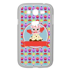 Cupcake With Cute Pig Chef Samsung Galaxy Grand Duos I9082 Case (white)