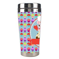 Cupcake With Cute Pig Chef Stainless Steel Travel Tumbler