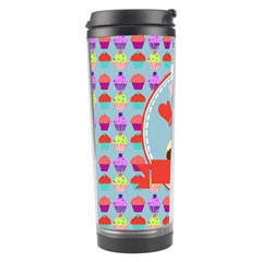 Cupcake With Cute Pig Chef Travel Tumbler