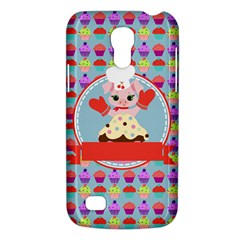 Cupcake With Cute Pig Chef Samsung Galaxy S4 Mini (gt I9190) Hardshell Case