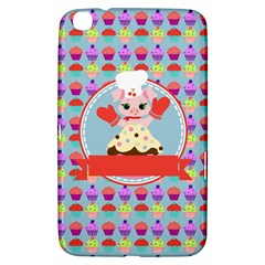 Cupcake With Cute Pig Chef Samsung Galaxy Tab 3 (8 ) T3100 Hardshell Case