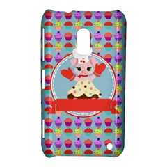 Cupcake With Cute Pig Chef Nokia Lumia 620 Hardshell Case