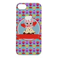 Cupcake With Cute Pig Chef Apple Iphone 5s Hardshell Case