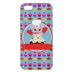 Cupcake With Cute Pig Chef Iphone 5s Premium Hardshell Case
