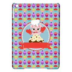 Cupcake With Cute Pig Chef Apple Ipad Air Hardshell Case