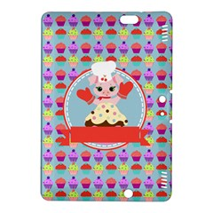 Cupcake With Cute Pig Chef Kindle Fire Hdx 8 9  Hardshell Case