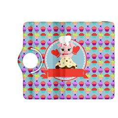Cupcake With Cute Pig Chef Kindle Fire Hdx 8 9  Flip 360 Case