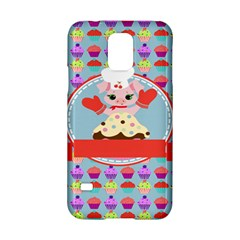 Cupcake with Cute Pig Chef Samsung Galaxy S5 Hardshell Case