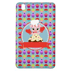 Cupcake with Cute Pig Chef Samsung Galaxy Tab Pro 8.4 Hardshell Case