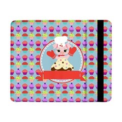 Cupcake With Cute Pig Chef Samsung Galaxy Tab Pro 8 4  Flip Case