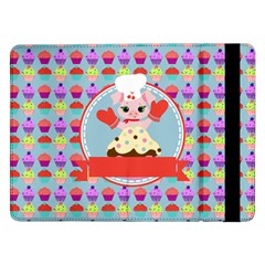 Cupcake with Cute Pig Chef Samsung Galaxy Tab Pro 12.2  Flip Case