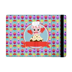 Cupcake with Cute Pig Chef Apple iPad Mini 2 Flip Case