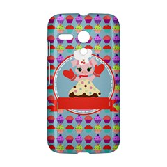 Cupcake with Cute Pig Chef Motorola Moto G Hardshell Case