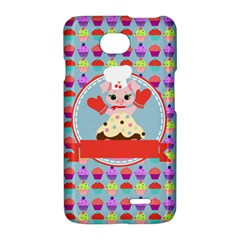 Cupcake with Cute Pig Chef LG Optimus L70 Hardshell Case