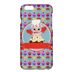Cupcake With Cute Pig Chef Apple Iphone 6 Plus Hardshell Case