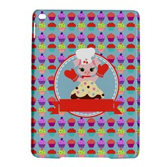Cupcake with Cute Pig Chef Apple iPad Air 2 Hardshell Case