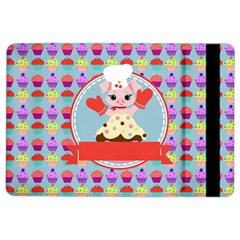 Cupcake with Cute Pig Chef Apple iPad Air 2 Flip Case