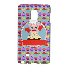 Cupcake With Cute Pig Chef Samsung Galaxy Note Edge Hardshell Case