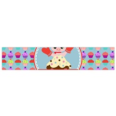 Cupcake With Cute Pig Chef Flano Scarf (small)
