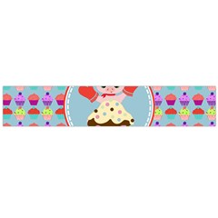 Cupcake With Cute Pig Chef Flano Scarf (large)
