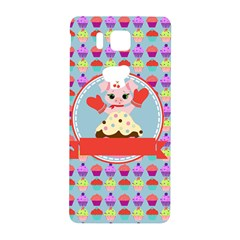 Cupcake With Cute Pig Chef Samsung Galaxy Alpha Hardshell Back Case
