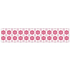 Sweety Pink Floral Print Flano Scarf (small)