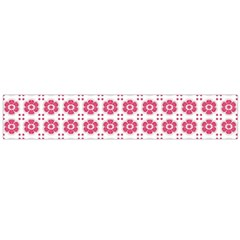 Sweety Pink Floral Print Flano Scarf (Large)