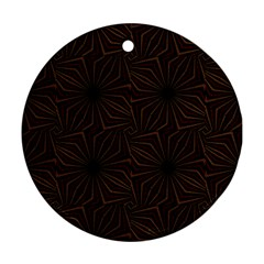 Tribal Geometric Vintage Pattern  Round Ornament (two Sides)