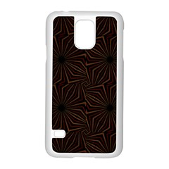 Tribal Geometric Vintage Pattern  Samsung Galaxy S5 Case (White)