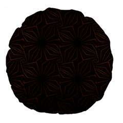 Tribal Geometric Vintage Pattern  18  Premium Flano Round Cushion