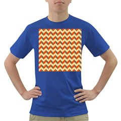 Modern Retro Chevron Patchwork Pattern  Men s T Shirt (colored)
