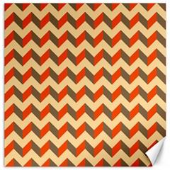 Modern Retro Chevron Patchwork Pattern  Canvas 12  X 12  (unframed)