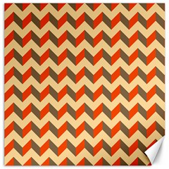 Modern Retro Chevron Patchwork Pattern  Canvas 16  X 16  (unframed)