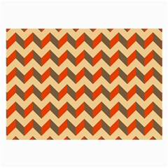 Modern Retro Chevron Patchwork Pattern  Glasses Cloth (large, Two Sided)