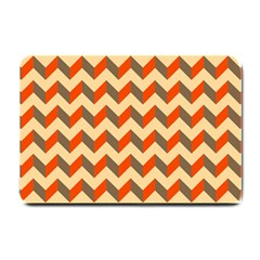 Modern Retro Chevron Patchwork Pattern  Small Door Mat