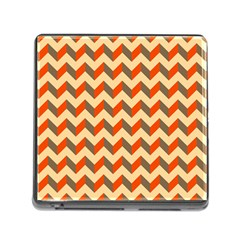 Modern Retro Chevron Patchwork Pattern  Memory Card Reader With Storage (square)