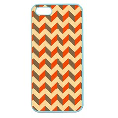 Modern Retro Chevron Patchwork Pattern  Apple Seamless Iphone 5 Case (color)