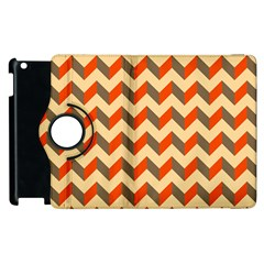 Modern Retro Chevron Patchwork Pattern  Apple iPad 2 Flip 360 Case