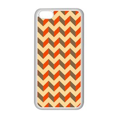 Modern Retro Chevron Patchwork Pattern  Apple iPhone 5C Seamless Case (White)