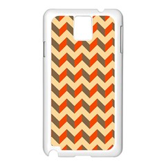 Modern Retro Chevron Patchwork Pattern  Samsung Galaxy Note 3 N9005 Case (white)