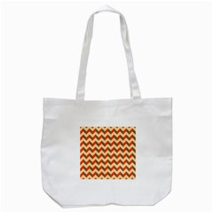 Modern Retro Chevron Patchwork Pattern  Tote Bag (White)
