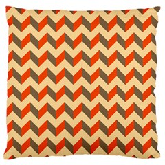 Modern Retro Chevron Patchwork Pattern  Large Flano Cushion Case (one Side)