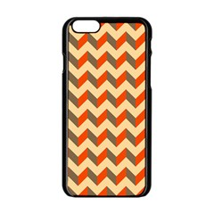 Modern Retro Chevron Patchwork Pattern  Apple Iphone 6 Black Enamel Case